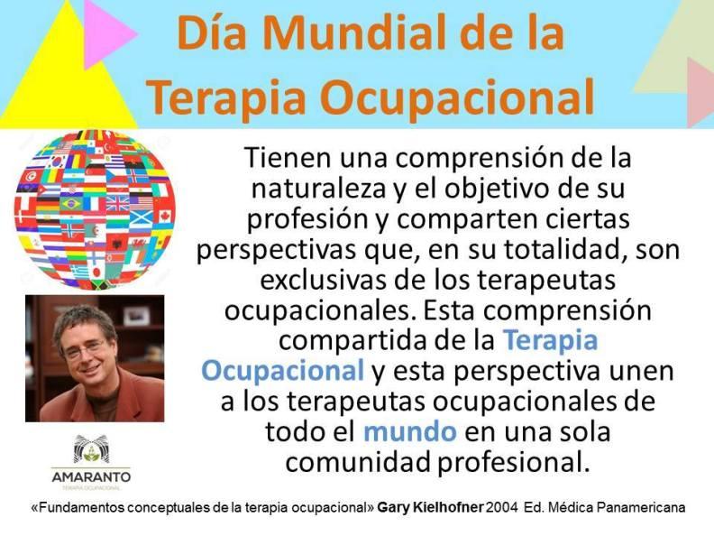27 De Octubre Día De La Terapia Ocupacional